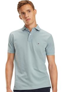 Polo Tommy Hilfiger Masculina Regular Fit Lead