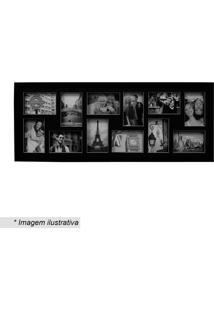 Painel Bee Collection Para 12 Fotos- Preto- 33X88Cm