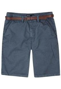 Bermuda Slim Tecido Com Cinto Masculina - Masculino-Chumbo
