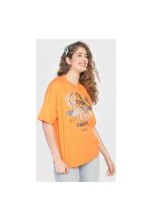 Camiseta Colcci Tamanduá Laranja