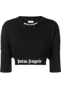 Palm Angels Suéter Cropped - Preto f81d61a1a5