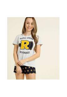 Pijama Juvenil Manga Curta Riverdale Warner Bros Tam 12 A 16
