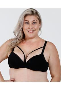 ed339cb4c Sutiã Feminino Com Base Tiras Strappy Plus Size Marisa