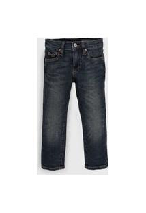 Calça Jeans Polo Ralph Lauren Infantil Mustache Azul