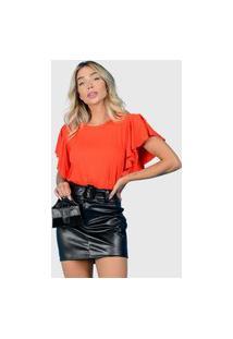 T-Shirt Babado Coral