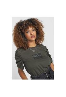 Camiseta Triton Mangas Bufantes Verde