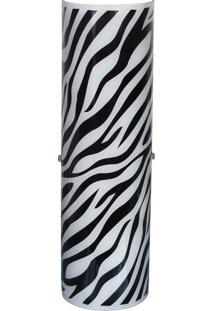Arandela Venus Grande Zebra Preta 2 Lâmpadas Attena
