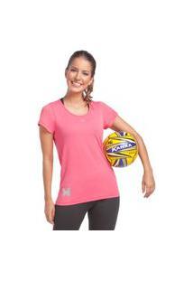 Camiseta Feminina Crep Rosa Camiseta Feminina Crep Rosa M