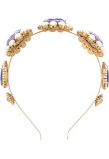 Dolce & Gabbana Headband Com Cristais Roxo