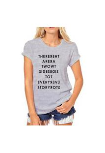 Camiseta Coolest There Are Two Sides Cinza