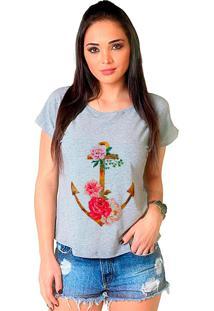 Camiseta Shop225 Âncora Floral Mescla