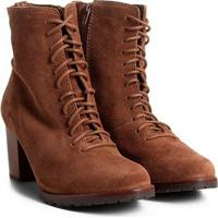 598d1203b Bota Couro Coturno Shoestock Tratorada Feminina
