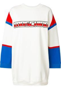 Moschino Vestido Com Logo Estampado - Branco