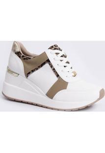 Tênis Feminino Sneaker Animal Print Via Marte