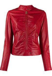 Liu Jo Faux-Leather Fitted Jacket - Vermelho