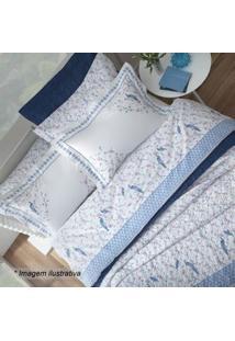 Sultan Conjunto De Cobre-Leito Hamani King Size Branco & Azul 3Pã§S 200