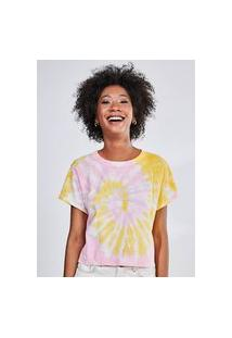 Camiseta Cropped Tie Dye Peace