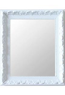 Espelho Moldura Rococó Raso 16377 Branco Art Shop