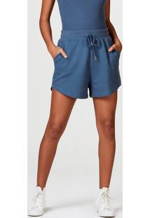 Shorts Curto Feminino Em Algodão Com Amarrração