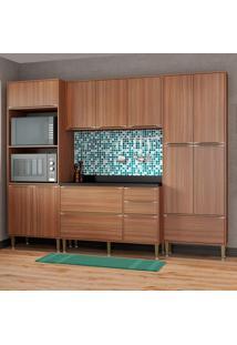 Cozinha Compacta Calábria Com Tampo 13 Portas Nogueira - Multimóveis