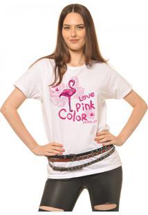 T-Shirt Joss Love Pink Branco