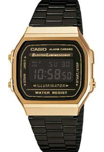 Relógio Casio Vintage Digital Fashion A168Wegb-1Bdf Unissex