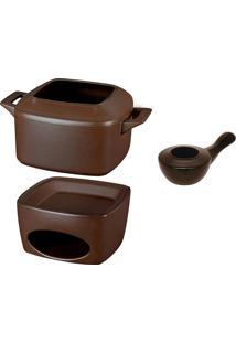 Conjunto Fondue 3 Peças – Ceraflame - Chocolate