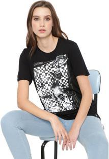 Camiseta Cavalera Quadriculada Preta