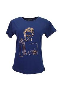 T-Shirt Frida Azul Marinho