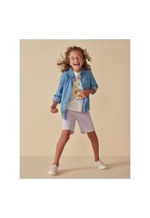 Amaro Feminino Camiseta Infantil Estampa Sol, Off-White