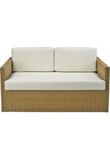 Sofa Corona 2 Lugares Estrutura Aluminio Revestido Em Fibra Cor Bege Madrid - 44655 - Sun House