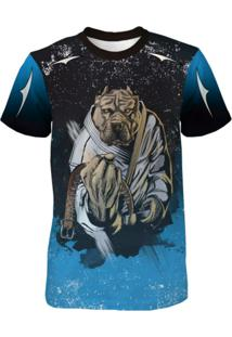 Camiseta Quisty Dry Fit Pitbull Dog Fighter Jiu Jitsu Azul f9c04b4a298f4