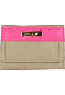 Carteira Clutch Rafitthy 2241408 Taupe Com Pink