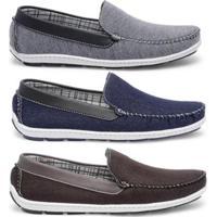 ef2e42664b Kit Mocassim Casual Style Prime Shoes Masculino - Masculino-Cinza