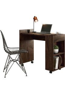 Mesa Para Computador Alessa 2 Noce