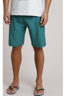 Bermuda Surf Masculina Bbb Com Bolso Verde