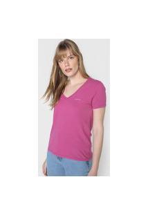 Camiseta Calvin Klein Jeans Logo Rosa