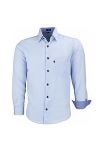 Camisa Social Lbl Não Amassa 1672 Azul Bebê