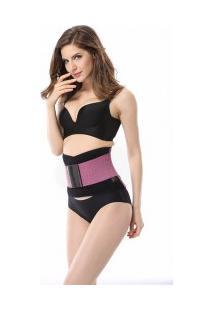 Cinta Modeladora Redutora Slim Para Cintura - Rosa