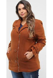 Casaco Original Collection Lã Batida Plus Size Feminino - Feminino