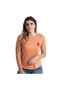 T-Shirt West Dust Basic Laranja Pardo