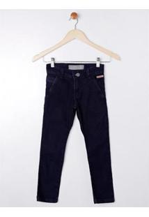 Calça Jeans Infantil Imports Baby Masculina - Masculino-Azul
