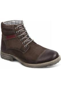 Bota Couro Sandro & Co. Dress Boot Masculino - Masculino-Café