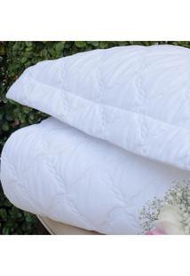Colcha Com Porta Travesseiro Trapuntada Topazio Branca - Scavone - Branco - Dafiti