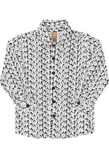 Camisa Pinguim Branca