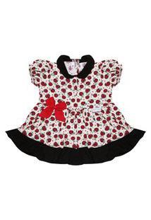 Vestido Padroeira Baby Joaninha Bege