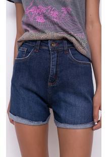 Short Barra Dobrada Em Jeans