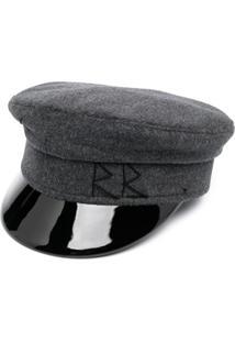Ruslan Baginskiy Chapéu Com Logo Bordado - Cinza