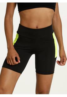 Bermuda Feminina Fitness Recorte Neon Marisa