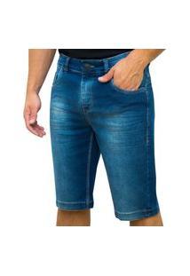 Bermuda Kevingston Kong Jeans Azul De Algodão